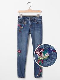 1969 embroidered superdenim high stretch super skinny jeans