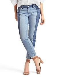 AUTHENTIC 1969 two-tone real straight jeans