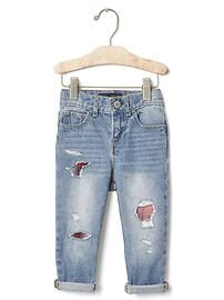 babyGap + Pendleton rip & repair girlfriend jeans