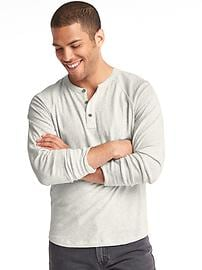 Athletic marled henley