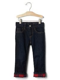 1969 flannel-lined straight jeans