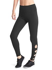 GapFit Blackout Technology gFast strappy cutout high rise leggings
