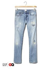 Gap x GQ Michael Bastian distressed slim jeans