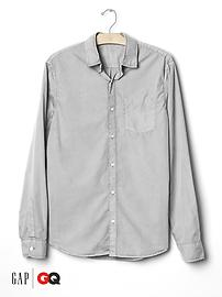 Gap x GQ Steven Alan reversed seam shirt