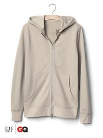 Gap x GQ John Elliott french terry dual zip hoodie
