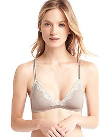 Breathe pullover lace-trim bralette