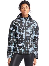 PrimaLoft&#174 print zip hooded puffer jacket