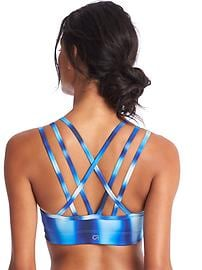 Medium impact strappy sports bra