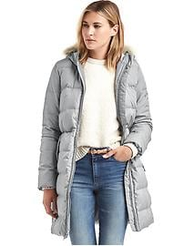 Hooded down puffer parka