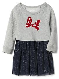babyGap &#124 Disney Baby Minnie Mouse quilted-sleeve layer dress