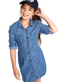 1969 denim shirtdress