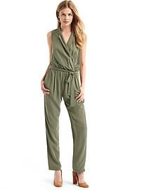 Soft lapel jumpsuit