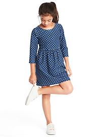 1969 supersoft dotty denim dress