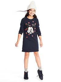 GapKids &#124 Disney Mickey Mouse embellished sweatshirt dress
