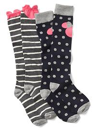 GapKidGapKids &#124 Disney Minnie Mouse over-the-knee socks (2-pack)