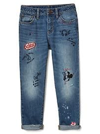 GapKids &#124 Disney Minnie Mouse embroidered girlfriend jeans