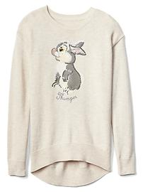 GapKids | Disney Bambi embellished graphic hi-lo sweater