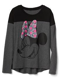 GapKids &#124 Disney Mickey Mouse and Minnie Mouse embellished colorblock tee