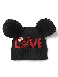 GapKids &#124 Disney Mickey Mouse pom-pom hat
