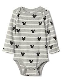 babyGap &#124 Disney Baby Mickey Mouse and stripes bodysuit