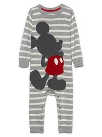 babyGap &#124 Disney Baby Mickey Mouse sweater one-piece