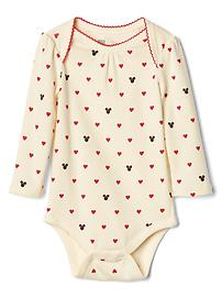 babyGap &#124 Disney Baby Minnie Mouse and hearts bodysuit
