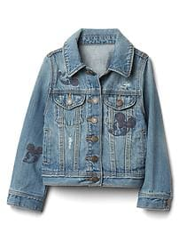 babyGap &#124 Disney Baby Mickey Mouse embroidered denim jacket