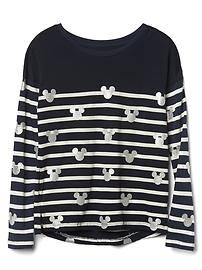 GapKids &#124 Disney Mickey Mouse and stripes hi-lo tee