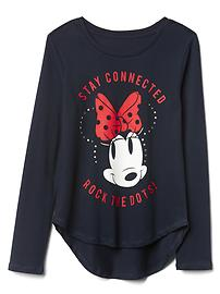 GapKids &#124 Disney Mickey Mouse and Minnie Mouse sequin graphic tee