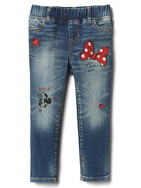 babyGap &#124 Disney Baby Minnie Mouse embroidered high stretch jeggings