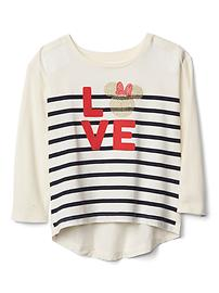babyGap &#124 Disney Baby Minnie Mouse embellished hi-lo tee