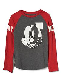 GapKids &#124 Disney Mickey Mouse graphic baseball tee