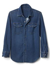 1969 supersoft denim western shirt