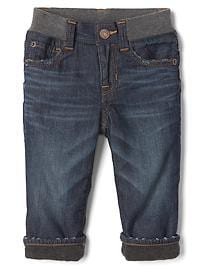 1969 my first fleece-lined straight jeans