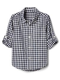 Gingham convertible shirt
