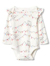 babyGap &#124 Disney Baby long sleeve flutter bodysuit