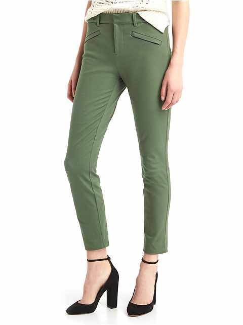 Bi-stretch skinny ankle pants