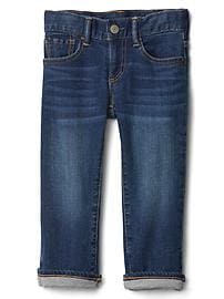 1969 jersey-lined straight jeans