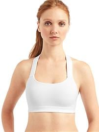 Medium impact T-back sports bra