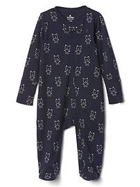 Footed bear one-piece