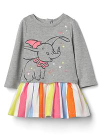 babyGap &#124 Disney Baby Dumbo graphic drop-waist dress
