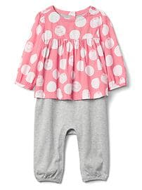 babyGap &#124 Disney Baby Dumbo shirred double-layer one-piece