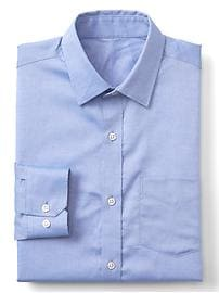 Wrinkle-resistant chambray shirt