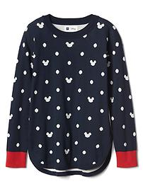 GapKids &#124 Disney Mickey Mouse and dots hi-lo sweater