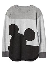 GapKids &#124 Disney Mickey Mouse shimmer colorblock sweater