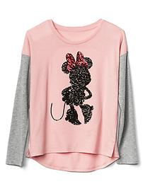 GapKids &#124 Disney Minnie Mouse embellished colorblock tee