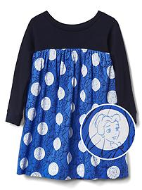 babyGap &#124 Disney Baby Belle knit-sleeve dress