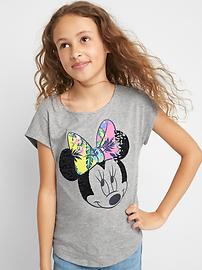 GapKids &#124 Disney Mickey Mouse and Minnie Mouse トロピカルキャップTシャツ
