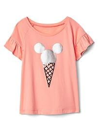 babyGap &#124 Disney Baby Mickey Mouse and Minnie Mouse フラッタースリーブTシャツ