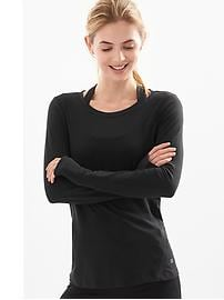 GapFit Breathe long-sleeve tee